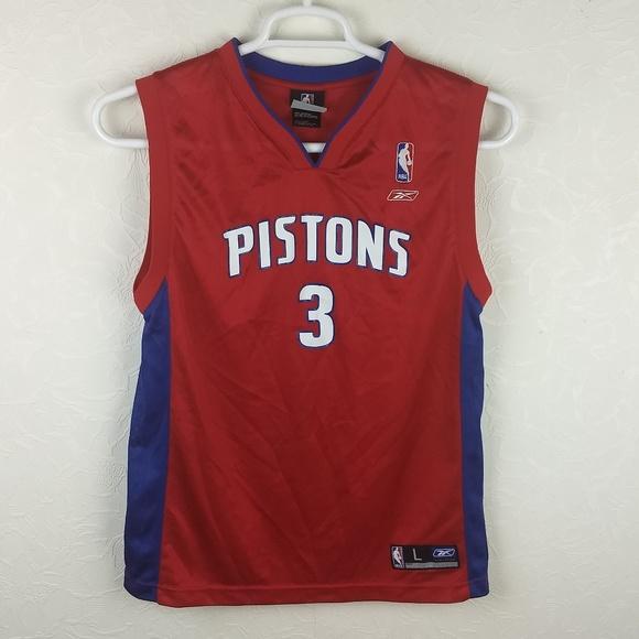 Reebok NBA DETROIT PISTONS Ben Wallace  3 Jersey. M 5b63ae572beb790e62228378 a8e534223